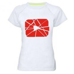 Жіноча спортивна футболка Broken