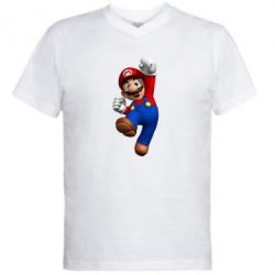 Мужская футболка  с V-образным вырезом Brother Mario