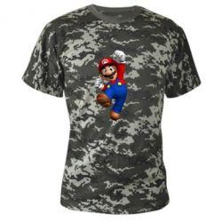 Камуфляжная футболка Brother Mario - FatLine