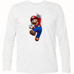 Футболка с длинным рукавом Brother Mario - FatLine