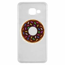 Чохол для Samsung A3 2016 Brown donut on a background of patterns