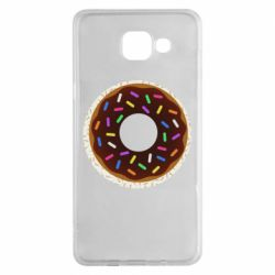 Чохол для Samsung A5 2016 Brown donut on a background of patterns