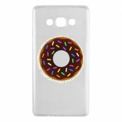 Чохол для Samsung A7 2015 Brown donut on a background of patterns