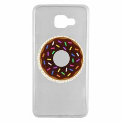 Чохол для Samsung A7 2016 Brown donut on a background of patterns