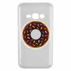 Чохол для Samsung J1 2016 Brown donut on a background of patterns
