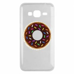 Чохол для Samsung J3 2016 Brown donut on a background of patterns