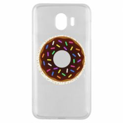 Чохол для Samsung J4 Brown donut on a background of patterns