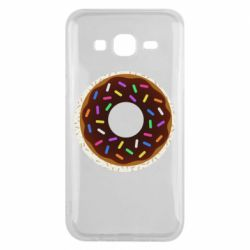 Чохол для Samsung J5 2015 Brown donut on a background of patterns