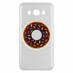 Чохол для Samsung J5 2016 Brown donut on a background of patterns