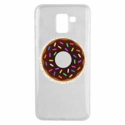 Чохол для Samsung J6 Brown donut on a background of patterns