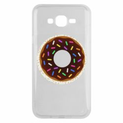 Чохол для Samsung J7 2015 Brown donut on a background of patterns