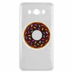 Чохол для Samsung J7 2016 Brown donut on a background of patterns
