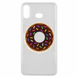 Чохол для Samsung A6s Brown donut on a background of patterns