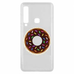 Чохол для Samsung A9 2018 Brown donut on a background of patterns