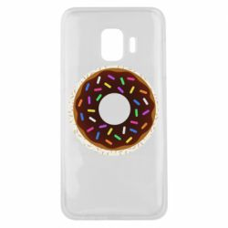 Чохол для Samsung J2 Core Brown donut on a background of patterns