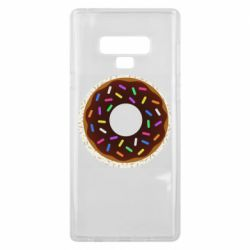 Чохол для Samsung Note 9 Brown donut on a background of patterns