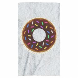 Рушник Brown donut on a background of patterns