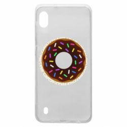 Чохол для Samsung A10 Brown donut on a background of patterns