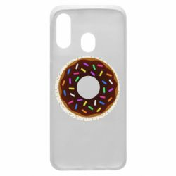 Чохол для Samsung A40 Brown donut on a background of patterns