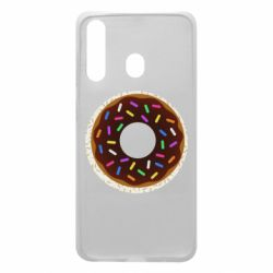 Чохол для Samsung A60 Brown donut on a background of patterns