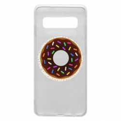 Чохол для Samsung S10 Brown donut on a background of patterns