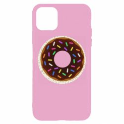 Чохол для iPhone 11 Brown donut on a background of patterns