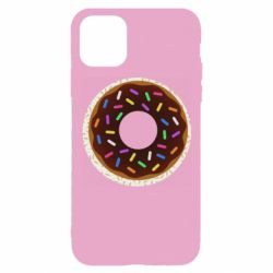 Чохол для iPhone 11 Pro Brown donut on a background of patterns