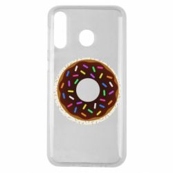 Чохол для Samsung M30 Brown donut on a background of patterns