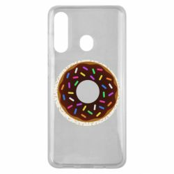 Чохол для Samsung M40 Brown donut on a background of patterns
