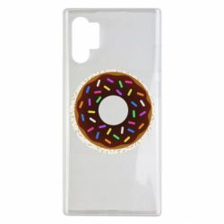 Чохол для Samsung Note 10 Plus Brown donut on a background of patterns