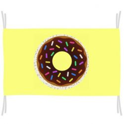 Прапор Brown donut on a background of patterns