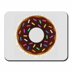 Килимок для миші Brown donut on a background of patterns