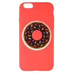 Чохол для iPhone 6 Plus/6S Plus Brown donut on a background of patterns