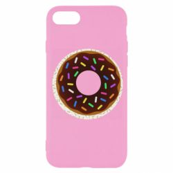 Чохол для iPhone 7 Brown donut on a background of patterns