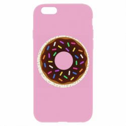 Чохол для iPhone 6/6S Brown donut on a background of patterns