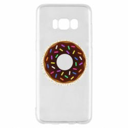 Чохол для Samsung S8 Brown donut on a background of patterns