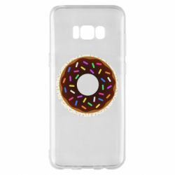 Чохол для Samsung S8+ Brown donut on a background of patterns