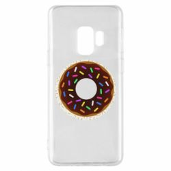 Чохол для Samsung S9 Brown donut on a background of patterns
