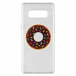 Чохол для Samsung Note 8 Brown donut on a background of patterns
