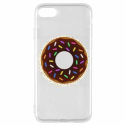 Чохол для iPhone 8 Brown donut on a background of patterns