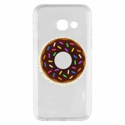 Чохол для Samsung A3 2017 Brown donut on a background of patterns