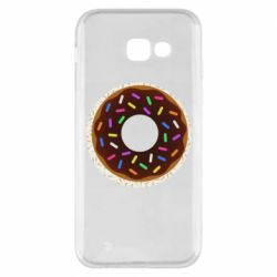 Чохол для Samsung A5 2017 Brown donut on a background of patterns
