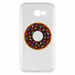 Чохол для Samsung A7 2017 Brown donut on a background of patterns