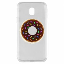 Чохол для Samsung J3 2017 Brown donut on a background of patterns