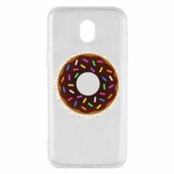 Чохол для Samsung J5 2017 Brown donut on a background of patterns