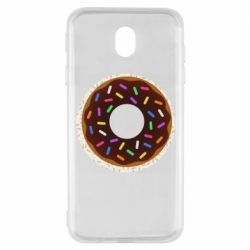 Чохол для Samsung J7 2017 Brown donut on a background of patterns