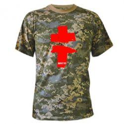 Камуфляжная футболка Brutto Logo - FatLine