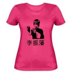 Женская футболка Брюс ли - FatLine