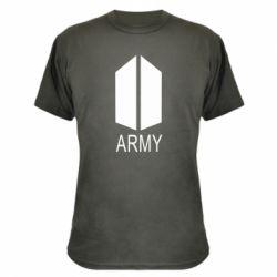 Камуфляжна футболка Bts army
