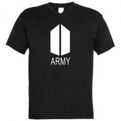 Чоловіча футболка з V-подібним вирізом Bts army